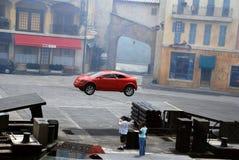 Toont de motoren Extreme Stunt Royalty-vrije Stock Foto