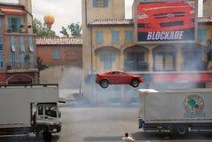 Toont de motoren Extreme Stunt Stock Foto's