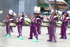 Toont drumband kind royalty-vrije stock afbeelding