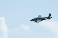 2014 toont het Verzamelen zich van Eagles-Lucht B-25 Open vlakte Gal Stock Foto's
