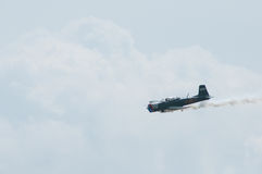 2014 toont het Verzamelen zich van Eagles-Lucht Uitstekend Propellervliegtuig Royalty-vrije Stock Foto's