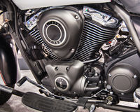 2014 toont Kawasaki Vulcan Nomad Engine, de Motorfiets van Michigan Stock Foto's