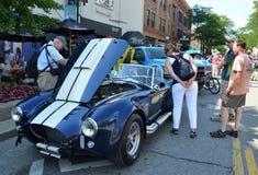 1965 toont Shelby Cobra bij Rolling Beeldhouwwerk 2013 Royalty-vrije Stock Foto's