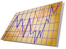 Toont zaken of andere statistieken Stock Foto