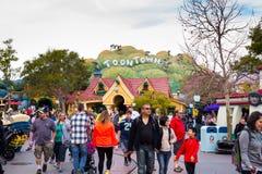 Toontown aglomerado Disneylândia Fotografia de Stock Royalty Free