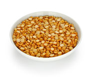 Toor dal in a small dish Stock Image