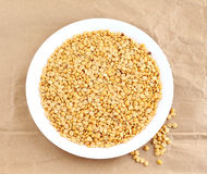 Toor Dal or Split Pigeon Pea in a Plate Royalty Free Stock Photo