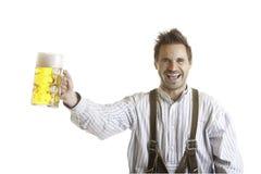 Toost met Oktoberfest bierstenen bierkroes (Massa) royalty-vrije stock afbeeldingen
