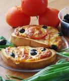 Toost voor ontbijt Stock Foto