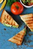 Toosts met kip en groenten Royalty-vrije Stock Afbeelding