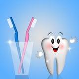 Tootbrush per lui e lei Fotografie Stock Libere da Diritti