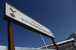 Tootenham Hotspur Welocme board Stock Photo