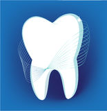 Tooth. On a dark blue background Royalty Free Stock Image