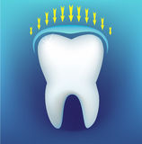 Tooth. On a dark blue background Royalty Free Stock Photography