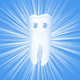 Tooth. On the bright abstract background, vector illustration, eps10 Royalty Free Stock Images