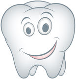 Tooth. Cartoon smile tooth with isolation on a white background Royalty Free Stock Images