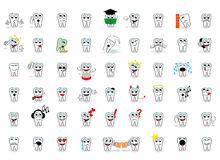 Tooth. 53 set tooth vector smiles Royalty Free Stock Photos
