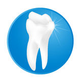 Tooth. Illustration drawing with blinking star Royalty Free Stock Photo