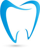 Tooth, abstract in blue, tooth and dentist logo Stock Image