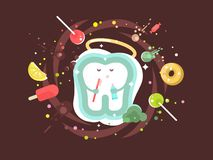 Tooth abstract design flat Royalty Free Stock Images