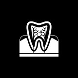 Tooth anatomy solid icon. Dental and medicine, vector graphics, a filled pattern on a black background, eps 10 Royalty Free Stock Photo