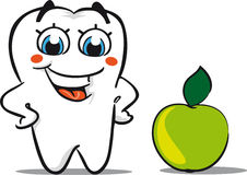 Tooth with apple Royalty Free Stock Photography