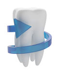 Tooth with arrow Stock Image