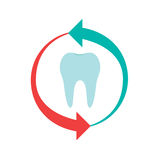 Tooth With Arrows Stock Photography