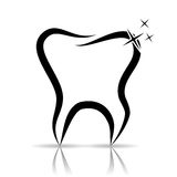 Tooth as a dental symbol Stock Photo