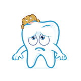 Tooth attacked by germs of caries Stock Images