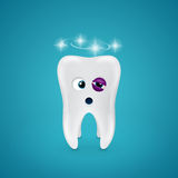 Tooth with a black eye and dizziness Stock Photography