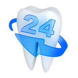 Tooth and blue arrow Royalty Free Stock Image