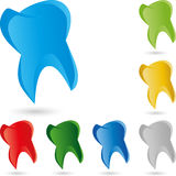 Tooth in blue tooth logo Stock Image