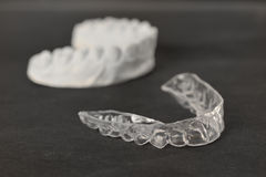 Tooth brackets transparent braces Royalty Free Stock Photos