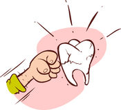 Tooth-breaking punch Royalty Free Stock Images