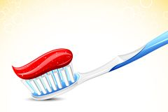 Tooth Brush. Illustration of tooth paste on tooth brush on abstract background Royalty Free Stock Photos