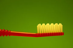 Tooth-brush. On the green background Stock Images