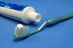 Tooth Brush Blue Stock Photo