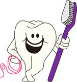 Tooth with Brush Royalty Free Stock Photo