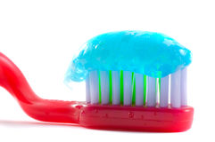 Tooth-brush with paste. Isolation Royalty Free Stock Photos