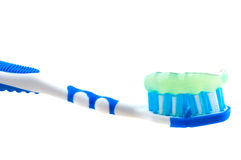 Tooth-brush and paste. Isolation on the white Stock Images