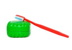 Tooth brush and  soap Stock Images