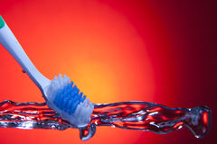 Tooth Brush Splash Royalty Free Stock Image