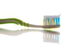 Tooth brush with tooth paste Royalty Free Stock Image