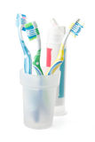 Tooth-brush and tooth-paste Royalty Free Stock Image