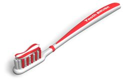 Tooth brush with toothpaste Stock Image
