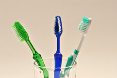 Tooth brush on white background. Royalty Free Stock Photos