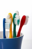 Tooth brushes Stock Photos
