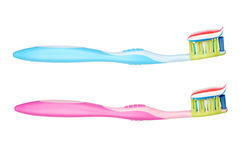 Tooth brushes Royalty Free Stock Image