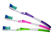 Tooth brushes isolated Royalty Free Stock Photos